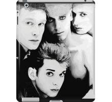 Depeche Mode : Single 81-85 - Paint B&W iPad Case/Skin