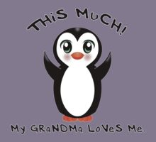 Grandma Loves Me ~ Baby Penguin Kids Clothes