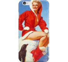 Christmas Gil Elvgren 50s Pinup iPhone Case/Skin