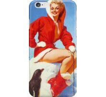 Christmas Gil Elvgren 50s Pinup iPhone Case/Skin