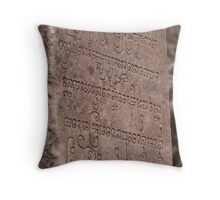 Ancient writing of the Chăm Pa  Throw Pillow