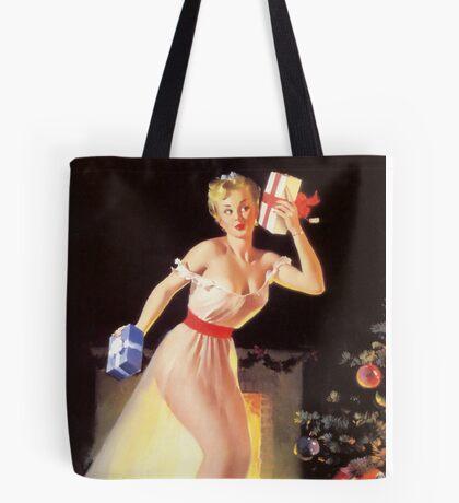 Gil Elvgren Christmas Pinup Tote Bag