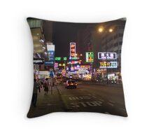 Neon Wonderland Throw Pillow