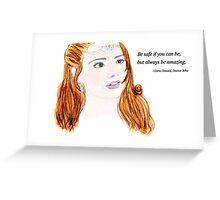 Clara Oswald and Robin Hood Greeting Card