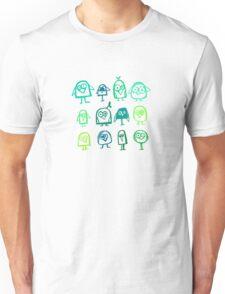 green birds Unisex T-Shirt