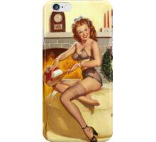 Christmas Present Gil Elvgren Pinup iPhone Case/Skin