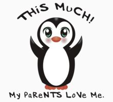 Parents Love Me ~ Baby Penguin One Piece - Short Sleeve