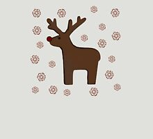 Christmas deer! green Womens Fitted T-Shirt