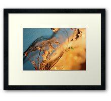 foglia e oro Framed Print