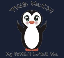 Family Loves Me ~ Baby Penguin One Piece - Long Sleeve
