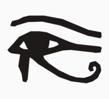 Eye of Horus - Black by Sandra Chung