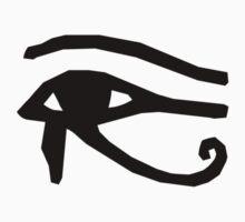 Eye of Horus - Black by Sandra Chung