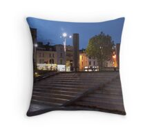 Water Steps (at night) Throw Pillow