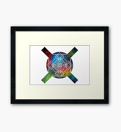 the galaxy of x Framed Print
