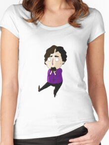 [Cookie Monster] Sherlock Women's Fitted Scoop T-Shirt