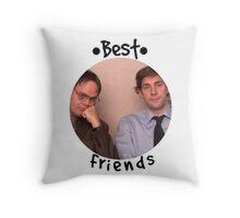 Jim and Dwight - Best Friends Unite! Throw Pillow