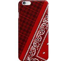 Red Tartan Bandana iPhone Case/Skin