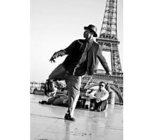 Slyde the Artist 01 (in Paris) Photographic Print