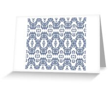 Mormor Damask - White Greeting Card