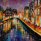 WINTER IN AMSTERDAM by leonid afremov