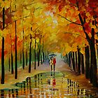 WET ALLEY by leonid afremov