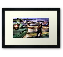 Like two ships that pass in the night... Framed Print
