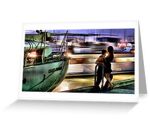 Like two ships that pass in the night... Greeting Card