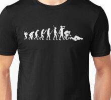 evolution drunk falling Unisex T-Shirt