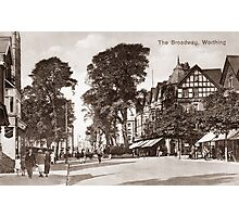 The Broadway, Worthing, West Sussex. Photographic Print