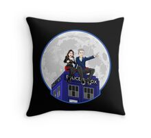 Clara and the Doctor Throw Pillow
