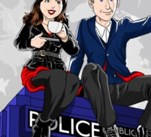 Clara and the Doctor Sticker