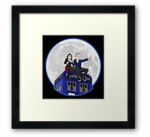 Clara and the Doctor Framed Print