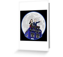 Clara and the Doctor Greeting Card