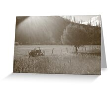 Bitterroot Valley Farming Greeting Card