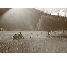 Bitterroot Valley Farming Photographic Print