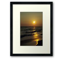 Serenity Surrounds Us Framed Print
