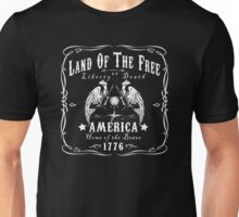Land of the Free Home of the Brave America Unisex T-Shirt
