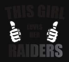 THIS GIRL LOVES HER RAIDERS Kids Clothes