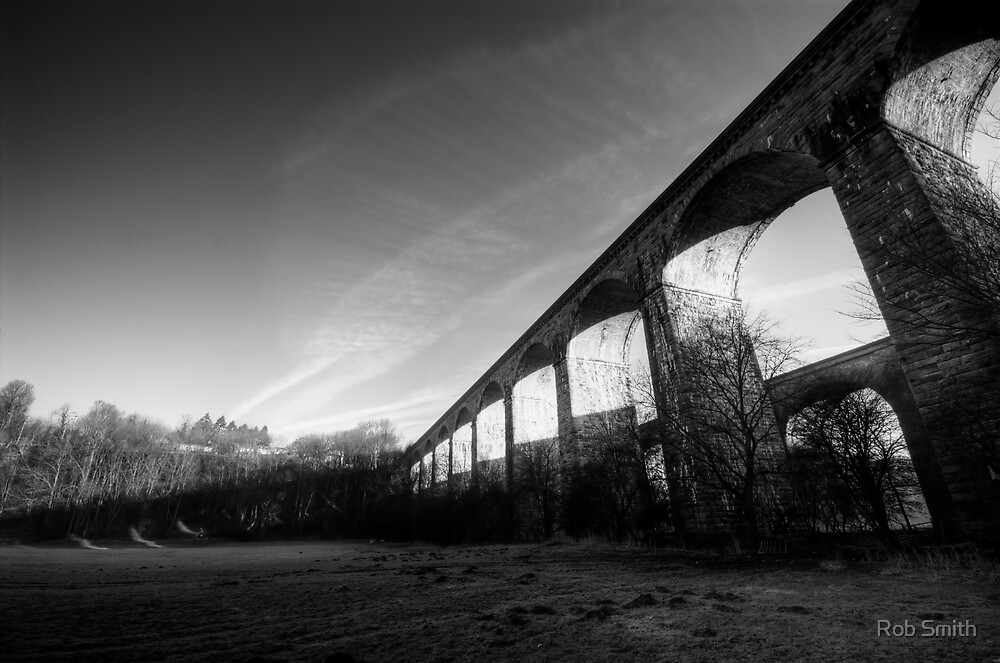Chirk Aqueduct Morning Shadow by Rob Smith