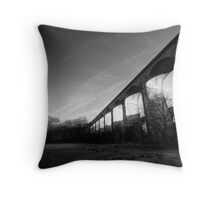 Chirk Aqueduct Morning Shadow Throw Pillow