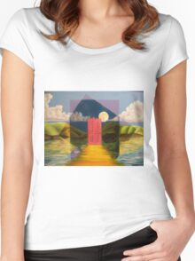 Door Women's Fitted Scoop T-Shirt