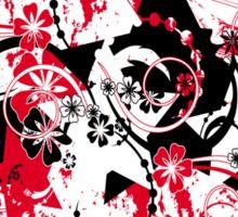 floral stars Sticker