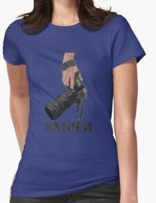 Sniping - photographer-style! Womens Fitted T-Shirt