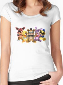 Five Nights of Kawaii Women's Fitted Scoop T-Shirt