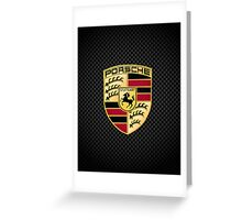 Porsche 911 Carbon Fibre iPhone / Samsung Galaxy Case Greeting Card