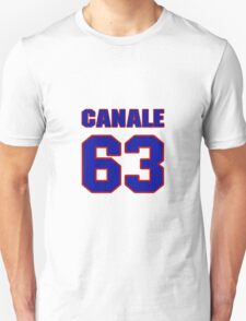 National football player Justin Canale jersey 63 T-Shirt