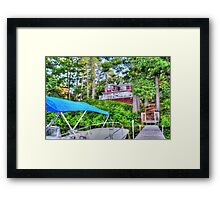House Atop The Lake Framed Print