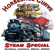 NKP #765 STEAM ON HORSESHOE CURVE - DATED by TrainmasterBob