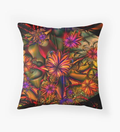 Flowered Bush Throw Pillow