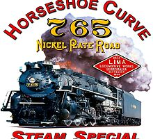 NKP #765 STEAM ON HORSESHOE CURVE - UNDATED by TrainmasterBob